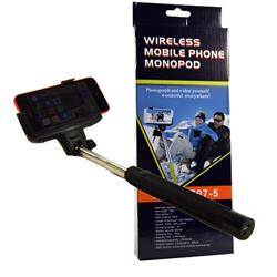 Monopod Selfie Stick Wireless Bluetooth Holder For iPhones & Smartphones - Black