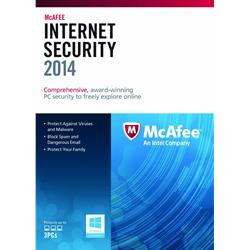 McAfee Internet Security 2014 1 Year 3 User PC Software