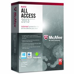 McAfee All Access Individual 2013/2014 INTERNET SECURITY Unlimited Devices/PCs