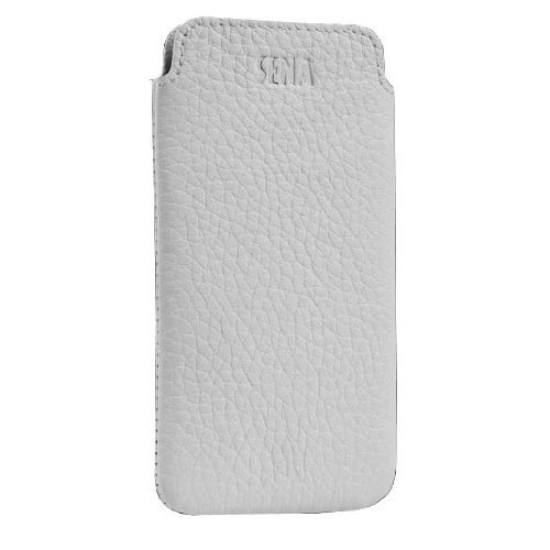 newest cab13 7f457 Sena UltraSlim Classic Leather Pouch For iPhone 5 - White