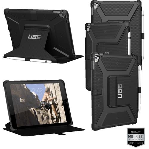 best website a26e0 80763 Urban Armor Gear UAG Tough Folio Case & Stand for Apple iPad Pro 9.7 inch -  Black
